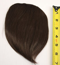 7'' Short Clip on Bangs Chocolate Brown Cosplay Wig Hair Extension Accessory NEW