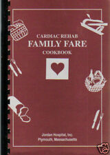 PLYMOUTH MA * CARDIAC REHAB FAMILY FARE COOK BOOK JORDAN HOSPITAL *MASSACHUSETTS