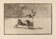 Goya Prints: La Tauromaquia - Bullfights: Agility of Juanito - Fine Art Print