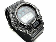 Men's New 3230 Authentic Real Casio G Shock+Custom Black Diamond Simulate Watch