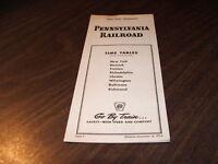 DECEMBER 1954 PRR PENNSYLVANIA RAILROAD FORM 7 PUBLIC TIMETABLE
