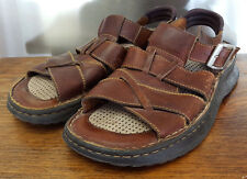 Born Leather Sandals-9-Brown Leather Straps-Nice-Rubber Sole