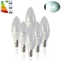 6x Small Edison Screw E14 8W LED Candle Bulb Spotlight SES Lamp Day White Light