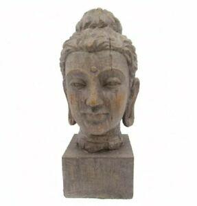 BUDDHA HEAD Statue Figurine Decor Garden Indoor Outdoor Ornament 31cm