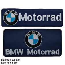 Toppe Bmw motorrad set kit 2 patch ricamata termoadesiva da stirare per vestiti