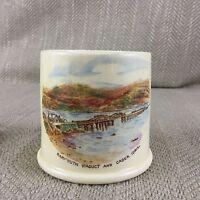 Antique Match Holder Pot Jar Barmouth Viaduct Cader Idris Crown Devon Pottery