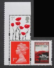 2018 MACHIN + POPPY 1st SINGLE STAMPS + LABEL from GREAT WAR PSB DY26 U3156