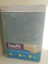 NEW! EasyFit Wrap-Around Bed Skirt, Sea-foam Green/Spa color,Twin-Full sz