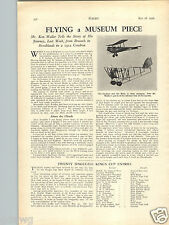 1936 PAPER AD Airplane The 1912 Caudron and the Moth Biplane Article