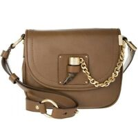 MICHAEL Kors James Pebbled Leather Saddle Bag Handbag Crossbody, Brown, NEW $348