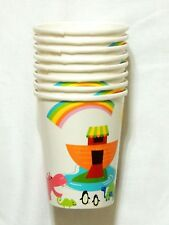 NEW~WHIMSICAL  ARK~ BABY SHOWER  8-CUPS- PARTY SUPPLIES