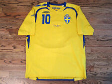 Ibrahimovic Sweden PSG Shirt Jersey Player Issue Match Un Worn EURO 2008 08