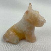 Boyd Art Glass Duke the Scottie Dog - Coral Mist Slag