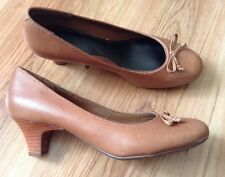 New 🌹Clarks 🌹Size 8 E Wide Fit Angel Star Tan Shoes (42 EU)Light Brown Leather