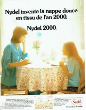 PUBLICITE ADVERTISING 126  1976  la nappe Nydel 2000  art de la table *