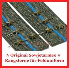 Russische Offizier Rangsterne Rote Sowjet Armee Feld-Uniform Original