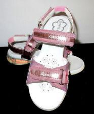 GEOX Shoes Respira Saldal J S Glitty Glitter Text Pink Size 12