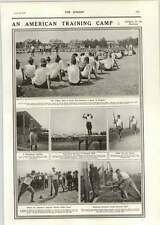 1918 American Training Camp Making Soldiers Attacking Dummies Bayonet Drill