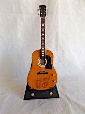 Miniature Repro 1964 Gibson J 160E Guitar with Stand ~ John Lennon Beatles 1969