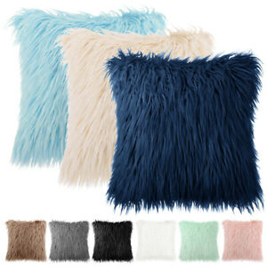 Home Decorative Sofa Throw Pillow Covers Mongolian Faux Fur Cushion Pillow Cases