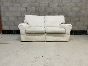 Laura Ashley Kendal 2 Seater Sofa Upholstered in Dalton Off White