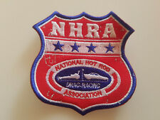PATCH NHRA-NATIONAL AASCIATION Sized 4x4 Inch EMBROIDERED ECCUSON AUFNÄHER HOT