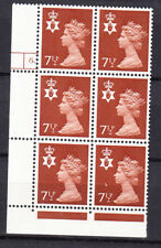 Northern Ireland - Chestnut - 71/2p Violet - Cyl 6 Dot 2B x 6 Mnh
