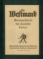 Die Westmark Monatsschrift für deutsche Kultur 1940 Umsiedlung Kolonisten Pfalz