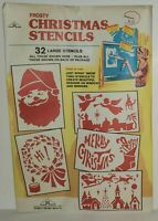Frosty Christmas Stencils Vintage 32 Large Stencils Rauch Industries Snow Spray