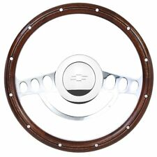 1948 - 1954 Chevy Pick Up w/GM Column Wood Chrome Steering Wheel, Chevy Horn