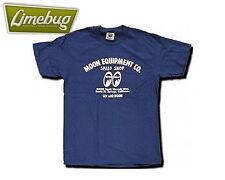 Mooneyes T Shirt Blu Navy Blue Moon Attrezzatura Da Uomo Camicia Vestiti media VW Hotrod