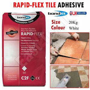 20kg White Rapid-Flex Tile Adhesive Rapid Setting Flexible Floor & Wall Ceramic