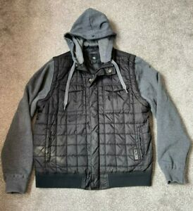 O'Neill Convertible Jacket Gillet Hoodie Mens Medium Large Cost £64.99