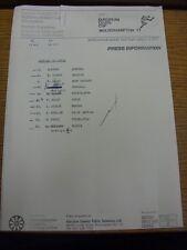 1977 Athletics Press Information Sheet: European Clubs Cup - Javelin B Final [Bl