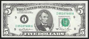 1981  $5  MINNEAPOLIS FED  I-A BLOCK  CHOICE UNCIRCULATED  L@@K NR