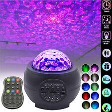 Laser Projektor RGB LED USB Bluetooth Party Nachtlicht Galaxy Starry Mond Remote