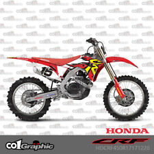 GRAPHICS DECALS STICKERS FULL KIT FOR HONDA CRF250R 2018 CRF450R 2017-2018