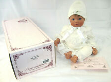 "'98 Lee Middleton Spring Bouquet Lilly White Reva Schick 18"" Baby Doll #1444 COA"