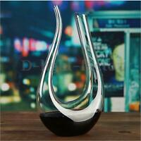 1.5L Luxurious Crystal Glass U-shaped Horn Wine Decanter Wine Pourer Container