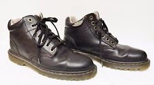 Dr Martens Doc Leather Harrisfield Ankle Boots Desert 7 Eye Brown Men's 12 M