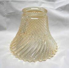"K65SH AMBER SWIRL Glass REPLACEMENT GLASSWARE 2.25"" Fitter x 4.5"" Fan Vanity NEW"