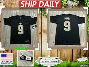 Official NFL Drew Brees #9 New Orleans Saints Jersey Youth Large Boy L Football