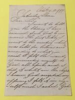9th Original Letter From 36 Rosevilla Street, St Helier, Jersey 6th October 1877