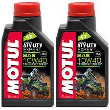 MOTUL ATV UTV EXPERT 4T 10W-40 OLIO MOTORE TECHNOSYNTESE 2 LT QUAD ATV CAN AM