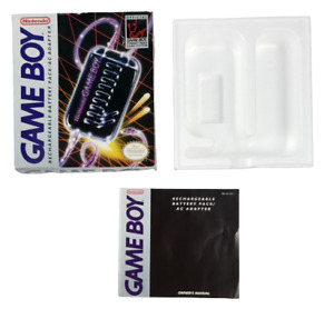 Nintendo Game Boy Rechargeable Battery Pack AC Adapter Original Box ONLY
