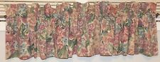 Single Valance, Floral on Tan Background, 100% Cotton, Made in Usa by Curtron