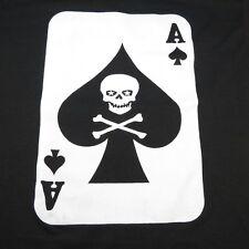 NEW DEATH CARD ACE OF SPADES HEAVY METAL PUNK ROCKABILLY TEE T SHIRT Sz Mens L