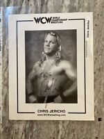 1998 Chris Jericho WCW Signed Auto 8x10 Photo; Wrestling; Inscribed