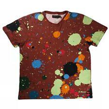 Rare Dr Martens Mens L Large T Shirt Paint Splatter Unique Excellent Condition