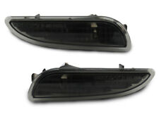 Black/Smoke Front Bumper Side Marker Light Pair For 2003-09 Mercedes W209 CLK
